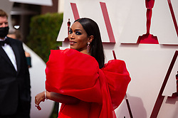 Angela Bassett arrives on the red carpet of The 93rd Oscars® at Union Station in Los Angeles, CA, USA on Sunday, April 25, 2021. Photo by A.M.P.A.S. via ABACAPRESS.COM