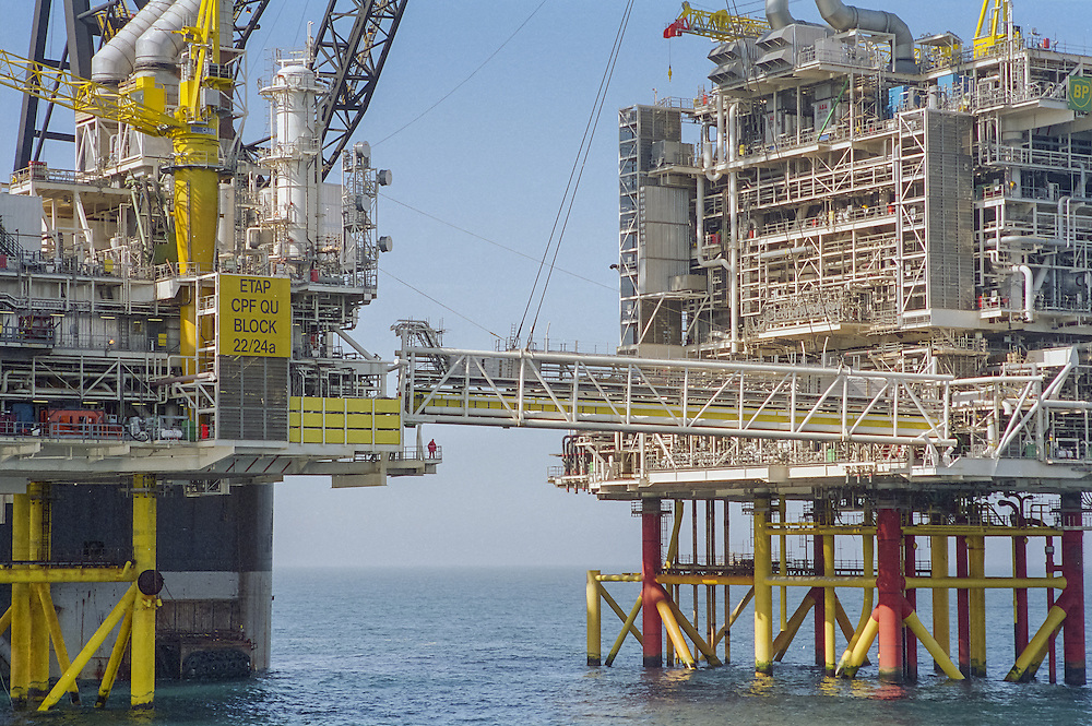 Images of gas and oil production in the North Sea