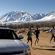 Todd Bigelow shoots Oympic Runner Ryan Hall training in the Eastern Sierras for Sports Illustrated (Photo ©Gerard Burkhart)