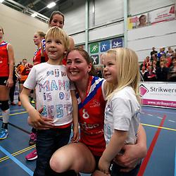 SNEEK , 24-04-2016 , Sneker Sporthal, volleybal , seizoen 2015 - 2016 , VC Sneek is landskampioen 2016 na een 3-0 overwinning in de play-offs tegen Set Up 65. Carlijn Jans <br /> <br /> foto: Henk Jan Dijks