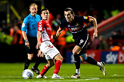 John Marquis of Doncaster Rovers takes on Josh Cullen of Charlton Athletic - Mandatory by-line: Robbie Stephenson/JMP - 17/05/2019 - FOOTBALL - The Valley - Charlton, London, England - Charlton Athletic v Doncaster Rovers - Sky Bet League One Play-off Semi-Final 2nd Leg
