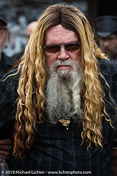 David Allan Coe after playing his afternoon concert at the Iron Horse Saloon during Daytona Bike Week. Ormond Beach, FL. USA. Sunday March 11, 2018. Photography ©2018 Michael Lichter.