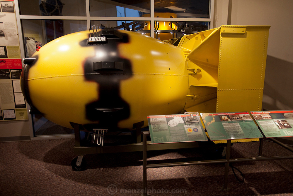 Bradbury Science Museum, Los Alamos, NM. Displays of Manhatten Project that developed the world's first atomic bombs during WWII.