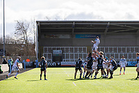 Rugby Union - 2020 / 2021 Gallagher Premiership - Round 13 - Newcastle Falcons vs Bath - Kingston Park<br /> <br /> Elliott Stooke of Bath wins a line out <br /> <br /> Credit : COLORSPORT/BRUCE WHITE