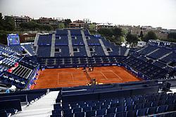 April 23, 2018 - Barcelona, Spain - View of principal Rafa Nadal court in the instalations of the Barcelona Open Banc Sabadell 66º Trofeo Conde de at Reial Club Tenis Barcelona on 23 of April of 2018 in Barcelona. (Credit Image: © Xavier Bonilla/NurPhoto via ZUMA Press)
