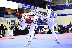 November 16, 2018 - Paris, France, France - Badr Achab (Bel - rouge) vs Piero Maric (Cro - Bleu) - Men -74kg (Credit Image: © Panoramic via ZUMA Press)