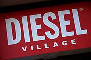 Sign for clothes shop Diesel Village.
