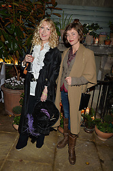 The Ivy Chelsea Garden's Guy Fawkes Party & Launch of The Winter Garden was held on 5th November 2016.<br /> Picture shows:-BASIA BRIGGS and CAMILLA RUTHERFORD.