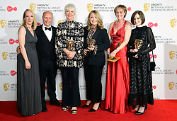 The winners of the Live Event award for World War One Remembered: Passchendaele in the press room at the Virgin TV British Academy Television Awards 2018 held at the Royal Festival Hall, Southbank Centre, London.