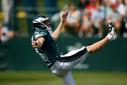 Philadelphia Eagles punter Ken Parrish #3 during the Philadelphia Eagles NFL training camp in Bethlehem, Pennsylvania at Lehigh University on Saturday August 8th 2009. (Photo by Brian Garfinkel)