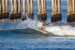 Leilani McGonagle (CRI) placed second in the 2018 Women's VANS US Open of Surfing trials at Huntington Beach, California, USA.