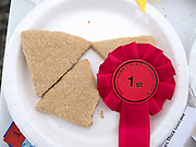 Oatcake competition at the North Harris Agricultural Show, Urgha, Isle of Harris, Outer Hebrides, Scotland on 19 July 2018