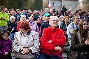 """Hundreds of citizens from the village of Brasy came to meet, support and to adore Czech president Milos Zeman's during his  public """"meetings with citizens"""". Miloš Zeman (born 28 September 1944) is the third and current President of the Czech Republic, in office since 8 March 2013.  He announced his candidacy for the 2018 presidential elections which will be held in the Czech Republic on 12–13 January."""