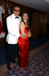 HON.SELINA TOLLEMACHE and BROOSK SAIB at the Boodles Boxing Ball in aid of the sports charity Sparks  organised by Jez lawson, James Amos and Charlie Gilkes held at The Royal Lancaster Hotel, Lancaster Terrace London W2 on 3rd June 2006.<br /> <br /> NON EXCLUSIVE - WORLD RIGHTS