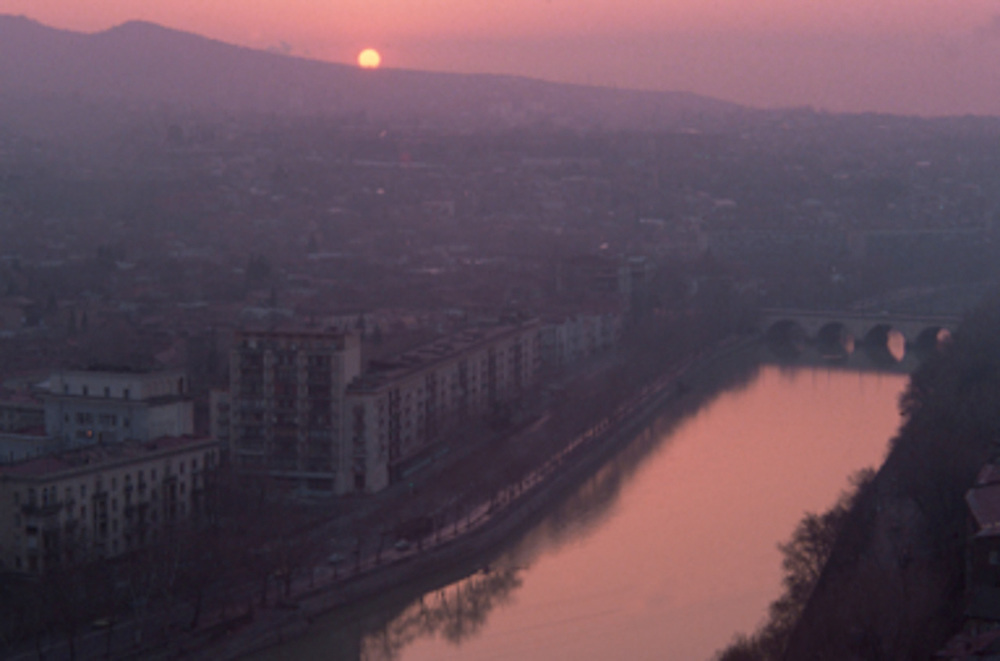 Morning light, Mtkvari River, Tblisi, The Country of Georgia, 1990