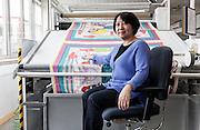 Lyon, Atelier Hermès, silk atelier at Pierre-Benite, controllo qualità , quality check