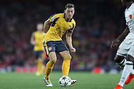 Mesut Ozil of Arsenal in action. UEFA Champions league group A match, Arsenal v FC Basel at the Emirates Stadium in London on Wednesday 28th September 2016.<br /> pic by John Patrick Fletcher, Andrew Orchard sports photography.