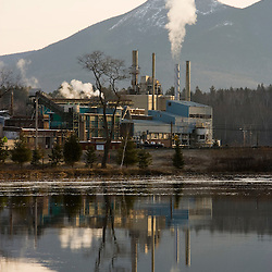 Wausau Paper mill in Groveton, New Hampshire.  Upper Ammonoosuc River.