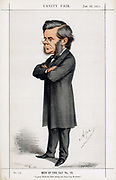 Thomas Henry Huxley (18231883) British biologist. Foremost supporter of Darwin in debate on evolution by natural selection and called 'Darwin's Bulldog'. Cartoon by 'Ape' (Calo Pellegrini) from 'Vanity Fair', January 1871