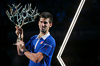 Novak DJOKOVIC (SRB) won the final against Andy MURRAY (GBR) during the ATP World Tour Masters 1000 indoor tennis tournament, BNP Paribas Masters in Bercy (AccorHotels Arena),  Paris, France, on October 31 to November 8, 2015. Photo Stephane Allaman / DPPI