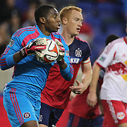 Sean Johnson, goalkeeper of Chicago Fire, in action during the New York Red Bulls Vs Chicago Fire, Major League Soccer regular season match at Red Bull Arena, Harrison, New Jersey. USA. 10th May 2014. Photo Tim Clayton