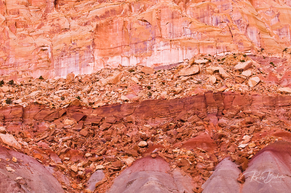 Colorful strata of the Waterpocket Fold, Capitol Reef National Park, Utah