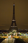 EIFFEL TOWER IN MOURNING - 24H AFTER ATTACKS OF PARIS WHO MADE DEATH AND 129 OVER 350 injured.<br /> ©Exclusivepix Media