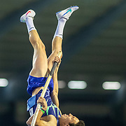 BRUSSELS, BELGIUM:  September 3:   Timur Morgunov of Russia in action during the pole vault competition at the Wanda Diamond League 2021 Memorial Van Damme Athletics competition at King Baudouin Stadium on September 3, 2021 in  Brussels, Belgium. (Photo by Tim Clayton/Corbis via Getty Images)