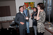 JOHN STODDART; BEN VOLPELIERE-PIERROT; REBECCA MILLER-CHEEVERS; DANIELLE ROTH, William Cookson art exhibition at Bistro K Old Brompton Rd. London. 17 May 2010. ,-DO NOT ARCHIVE-© Copyright Photograph by Dafydd Jones. 248 Clapham Rd. London SW9 0PZ. Tel 0207 820 0771. www.dafjones.com.