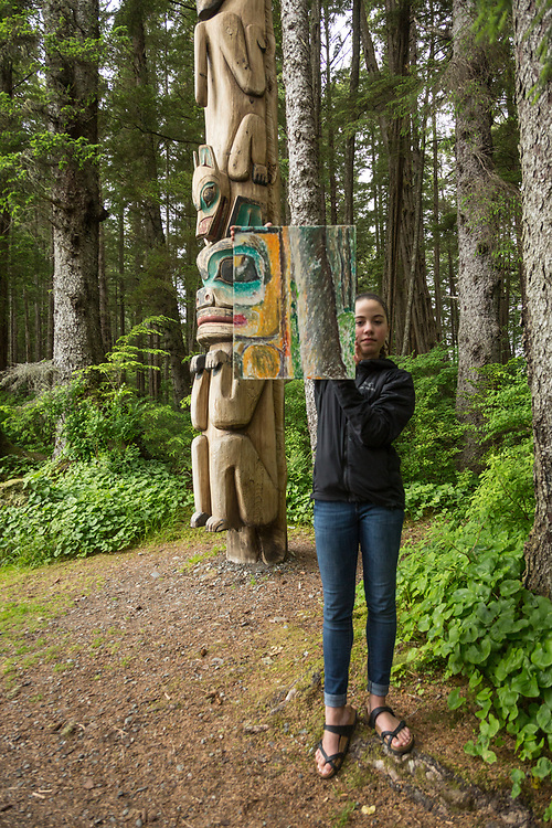 Digital photography students photograph and paint the wilderness at the Sitka Fine Arts Camp, Sitka, Alaska