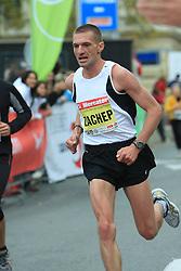 Serhiy Zachepa v cilju na 13. Ljubljanskem maratonu po ulicah Ljubljane, 26. oktobra 2008, Ljubljana, Slovenija. (Photo by Vid Ponikvar / Sportal Images)./ Sportida)