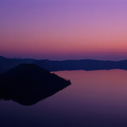 Sunrise at Crater Lake, one of the deepest lakes in the world, Crater Lake National Park, OR.