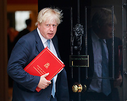© Licensed to London News Pictures. 11/07/2017. London, UK. Foreign Secretary BORIS JOHNSON leaves after a cabinet meeting in Downing Street, London on Tuesday, 11 July 2017. Photo credit: Tolga Akmen/LNP