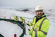 Editorial photograph of Hanson worker in Scotland