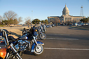 Motorcyclists at the Oklahoma State Capitol for the 2007 ABATE legislative breakfast.