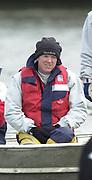 Hammersmith, London. 2002 University Boat Race, 26/3/2002, Tideway Week,<br /> <br /> <br /> Photo Peter Spurrier<br /> 27/03/2002<br /> 2002 Varsity Boat Race-Tideway week<br /> Wed morning Blue Boat training session<br /> CUBC assistant Coach  Martin McElroy 20020327 University Boat Race, [Varsity],  Tideway Week. Putney. London