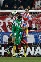 17.01.2013 SPAIN - Copa del Rey Matchday 1/2th  match played between Atletico de Madrid vs Real Betis Balompie (2-0) at Vicente Calderon stadium. The picture show