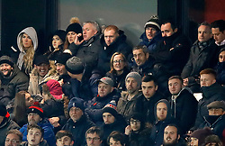 Salford City co-owner Paul Scholes watches on during the Emirates FA Cup, first round replay match at the Peninsula Stadium, Salford.