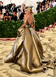 Jasmine Sanders attending the Metropolitan Museum of Art Costume Institute Benefit Gala 2018 in New York, USA.