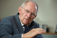 23 FEB 2016, BERLIN/GERMANY:<br /> Wolfgang Schaeuble, CDU, Bundesfinanzminister, waehrend einem Interview, in seinem Buero, Bundesministerium der Finanzen<br /> IMAGE: 20160223-01-012<br /> KEYWORDS: Wolfgang Schäuble