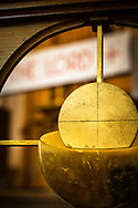 Decorative metalwork of the bread and body of Jesus Christ adorns the altar rail at Gethsemane Lutheran Church on Tuesday, July 28, 2020, in St. Louis.  LCMS Communications/Erik M. Lunsford