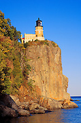Evening light on Split Rock Lighthouse on the north shore of Lake Superior, Split Rock Lighthouse State Park, Minnesota