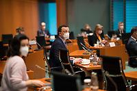 DEU, Deutschland, Germany, Berlin, 03.03.2021: Bundesgesundheitsminister Jens Spahn (CDU) vor Beginn der 132. Kabinettsitzung im Bundeskanzleramt.