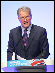Environment Secretary Owen Paterson speaking at the Conservative Party Conference  in Birmingham, Tuesday 9th October 2012. Photo by: Stephen Lock / i-Images