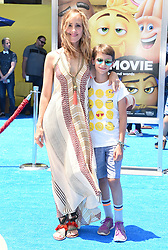 July 23, 2017 - Westwood, California, U.S. - Kim Raver and Leo Kipling Boyer arrives for the premiere of the film 'The Emoji Movie' at the Regency Village theater. (Credit Image: © Lisa O'Connor via ZUMA Wire)