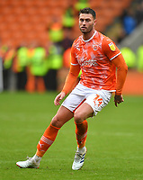Blackpool's Gary Madine<br /> <br /> Photographer Dave Howarth/CameraSport<br /> <br /> The EFL Sky Bet Championship - Blackpool v Preston North End - Saturday 23rd October 2021 - Bloomfield Road - Blackpool<br /> <br /> World Copyright © 2020 CameraSport. All rights reserved. 43 Linden Ave. Countesthorpe. Leicester. England. LE8 5PG - Tel: +44 (0) 116 277 4147 - admin@camerasport.com - www.camerasport.com