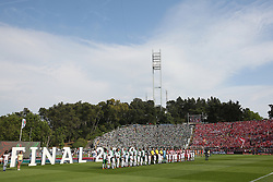 May 20, 2018 - Lisbon, Portugal - Sporting's and Aves' teams before the Portugal Cup Final football match CD Aves vs Sporting CP at the Jamor stadium in Oeiras, outskirts of Lisbon, on May 20, 2015. (Credit Image: © Pedro Fiuza/NurPhoto via ZUMA Press)