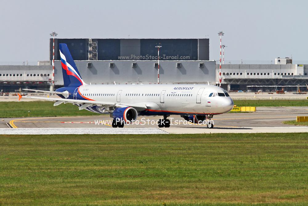 Aeroflot Airbus A321 Photographed at Malpensa airport, Milan, Italy