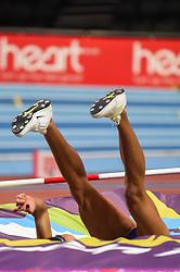 March 2, 2018 - Birmingham, Gangwon, United Kingdom - Katarina Johnson-Thompson ofGreat Britain at high jump Pentathlon at World indoor Athletics Championship 2018, Birmingham, England on March 2, 2018. (Credit Image: © Ulrik Pedersen/NurPhoto via ZUMA Press)
