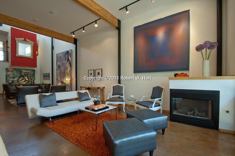 Living room in Ken Maxwell's home on Monday June 13, 2011...Robert W. Hart/Special Contributor